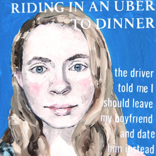 Riding in an Uber to Dinner
