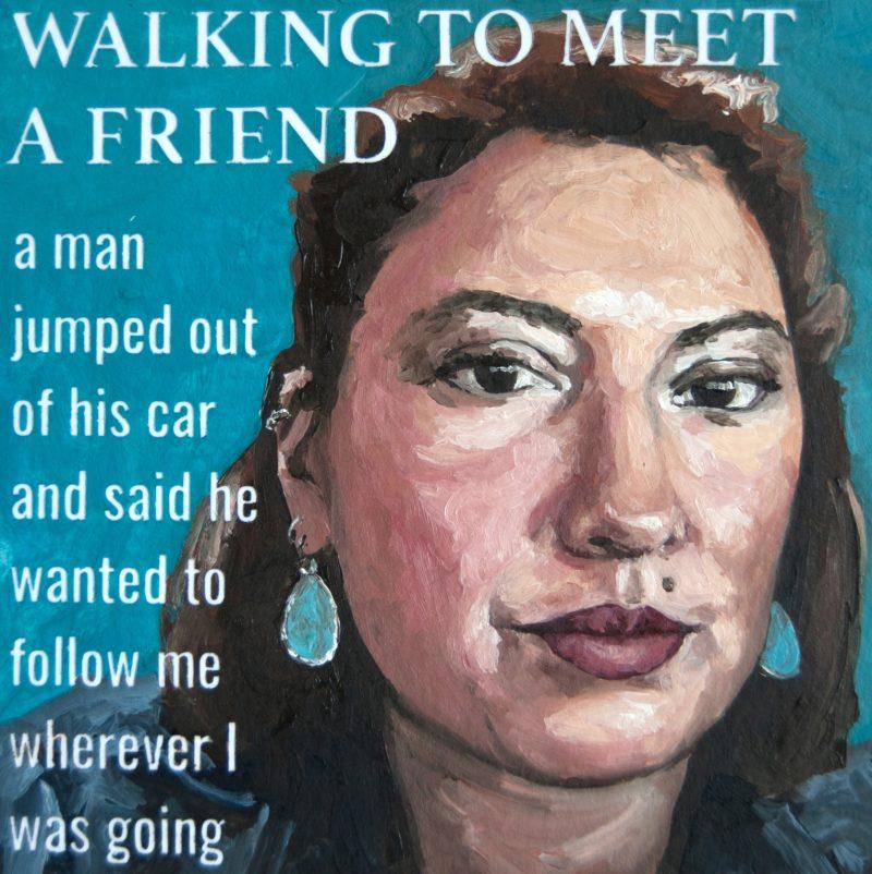 Walking to Meet a Friend
