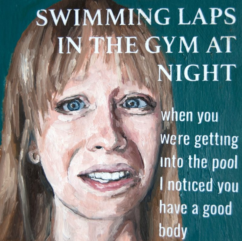 Swimming Laps in the Gym at Night